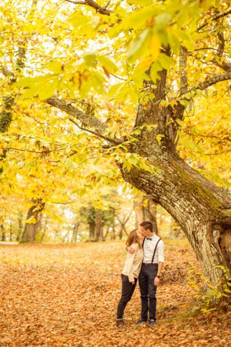 Photographe love session paca automne provence